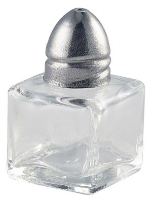 008-1 Individual Glass Salt Pot 30 x 30 x 50mm