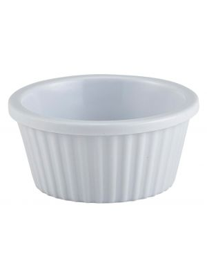 0843-02 Ramekin Fluted 1oz White 57X25mm