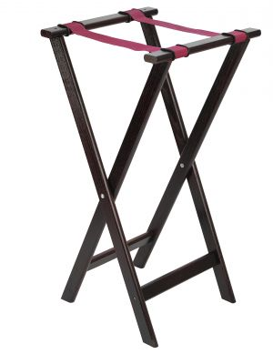 1815WD Mahogany Tray Stand 33IN/840mm High 16.5IN/420mm Wide