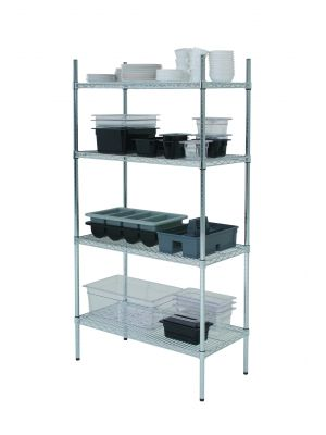 222-6018 4 Tier Rack 60IN x 18IN x 72IN (2 Boxes)