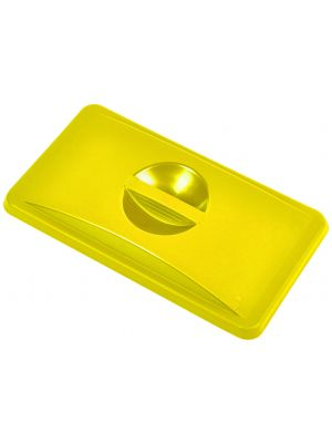 23433102 Yellow Closed Lid For Slim Recycling Bin