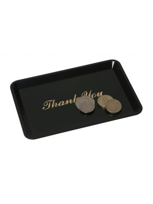 3022-03 Tip Tray Thank You 4.1/2INX6.1/2IN Black