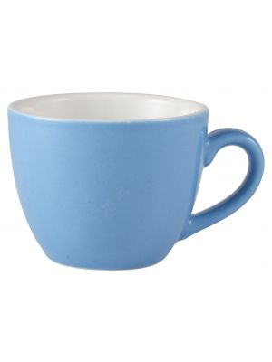 312109BL Royal Genware Bowl Shaped Cup 9cl Blue