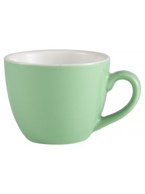 312109GR Royal Genware Bowl Shaped Cup 9cl Green