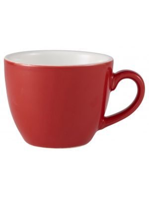 312109R Royal Genware Bowl Shaped Cup 9cl Red