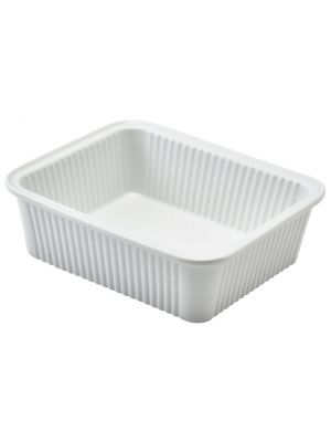 353316 Royal Genware Fluted Rectangular Dish 16 x 13 x 5cm