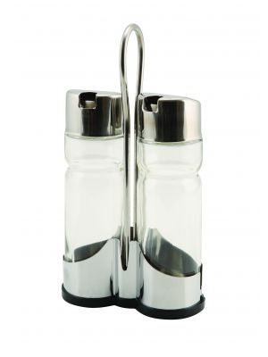 4016 Genware Oil & Vinegar Set With Stand