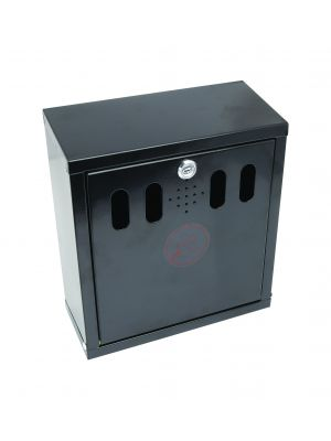 AT-WM-BLK Genware Black Wall-Mounted Outdoor Ashtray