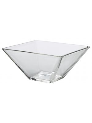 B3174 Square Glass Bowl 20 x 8cm H