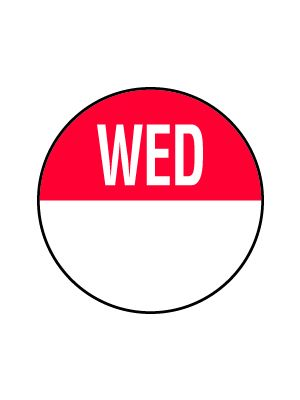 C304 19mm Wednesday Removable Day Dots (1000)