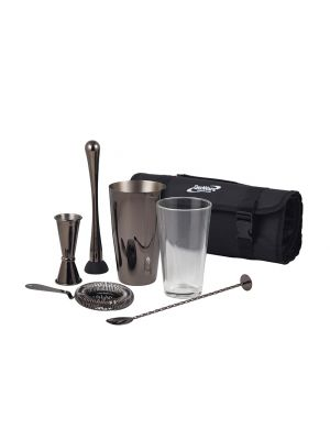 CBK3GM Gun Metal Cocktail Bar Kit 7pcs