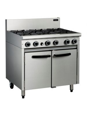 Cobra CR9D- 6 Burner Range Static Oven