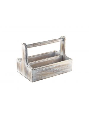 DWTCW White Wooden Table Caddy
