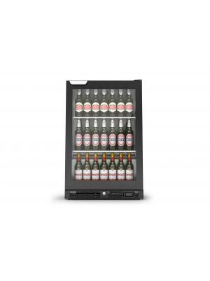 IMC F82/060B Black, Single Hinged Door Bottle Cooler