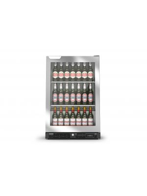 IMC F82/060SL SIlver, Single Hinged Door Bottle Cooler