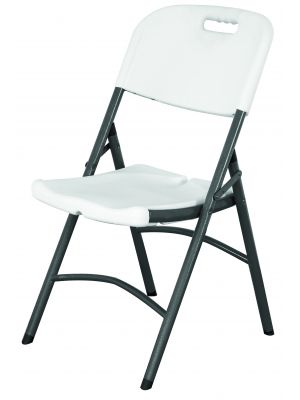 FPC Folding Utility Chair White HDPE