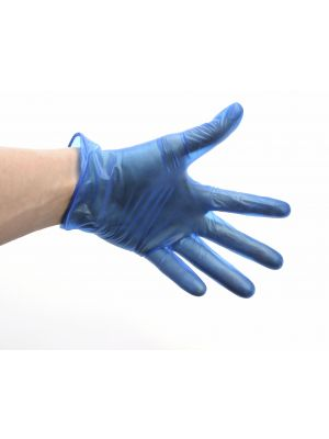 GD11-MED Blue Lightly Powdered Vinyl Gloves Med (100)