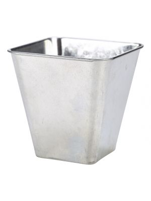 GFSQ10 Galvanised Steel Flared Serving Tub 10 x 10 x 10cm