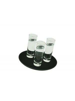 GG1100BLK Gengrip 11IN Round Non-Slip Tray Black
