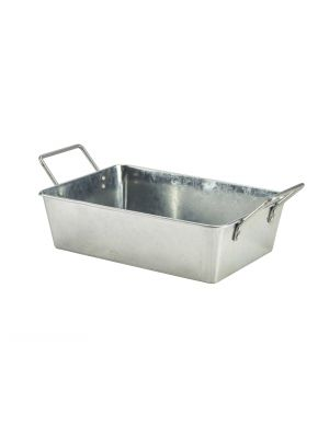 GSBR2315 Galvanised Steel Rectangular Serving Bucket 24 x 16.7 x 7cm