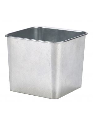 GSQ8 Galvanised Steel Square Tub 8 x 8 x 6cm