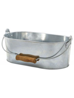 GSTC2815 Galvanised Steel Oval Table Caddy 28x15.5x10cm