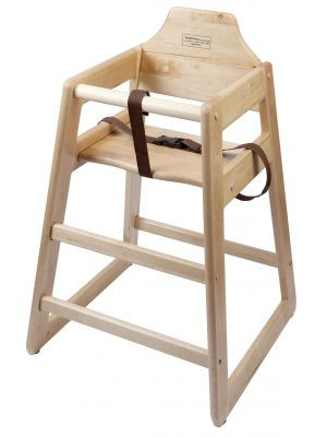 HCHAIR-LW Wooden High Chair - Light Wood