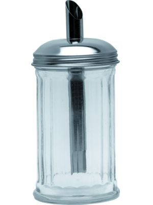 KC003 Sugar Pourer Clear Glass Base S/St.Tube Top