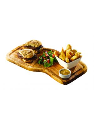 OWSB Olive Wood Serving Board W/ Groove 40 x 21cm+/-