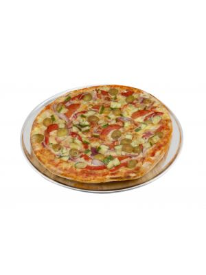 PT-WR12 Genware Alum. Flat Wide Rim Pizza Pan 12IN