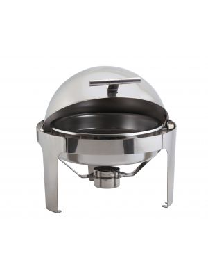 R901 Round Deluxe Roll Top Chafer 6L