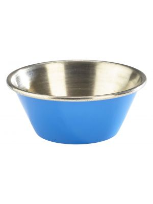 RAMST115BL 1.5oz Stainless Steel Ramekin Blue