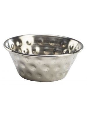 RAMSTH115 1.5oz Stainless Steel Hammered Ramekin