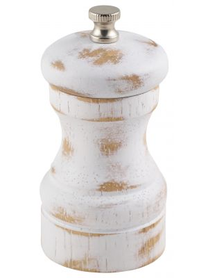 SPWD10W White Wash Salt/Pepper Grinder 10cm