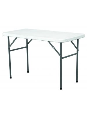 ST4 Solid Top Folding Table 4IN White HDPE