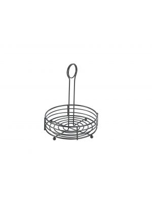TC6-BK Black Wire Table Caddy 6.5IN Dia X 8.5IN (H)