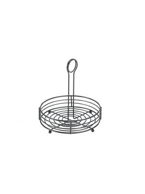 TC8-BK Black Wire Table Caddy 8IN Dia X 8.5IN (H)