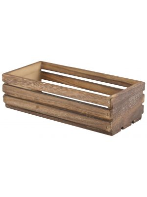 TR216 Wooden Crate Dark Rustic Finish 25 x 12 x 7.5cm