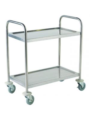TROL2S S/St. Trolley 85.5L X 53.5W X 93.3H-2 Shelves