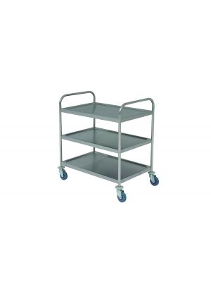 TROL3S S/St. Trolley 85.5L X 53.5W X 93.3H 3 Shelves