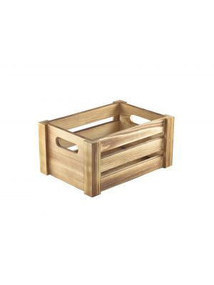WDC-2014 Wooden Crate Rustic Finish 22.8x16.5x11cm