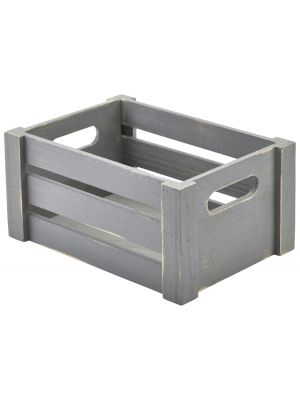WDC-2014G Wooden Crate Grey Finish 22.8 x 16.5 x 11cm