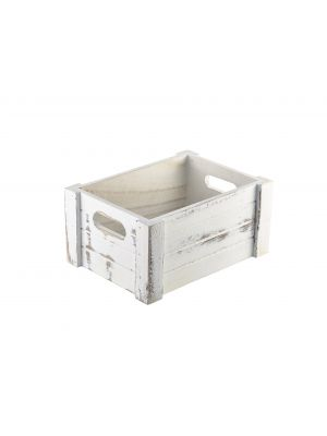 WDC-2014W Wooden Crate White Wash Finish 22.8x16.5x11cm