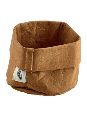 WPB-7 Brown Washable Paper Bag 7 Dia x 6cm (H)