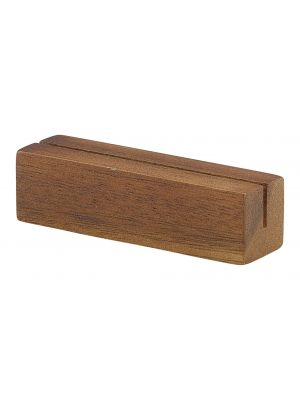 WSH9 Acacia Wood Sign Holder 9 x 3 x 3cm