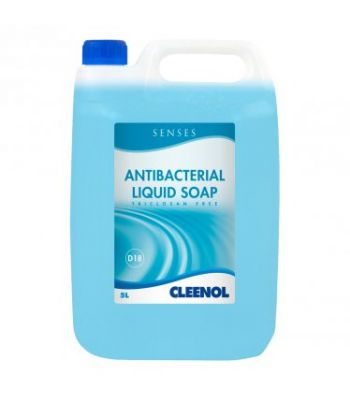 CLEENOL 0770192X5 Senses Antibacterial Liquid Soap - 5L